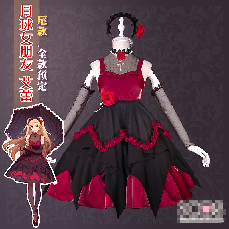 US $126 16  Fate Grand Order FGO Fate/stay night Saber Tohsaka Rin Servant  Archer Moon girlfriend Uniforms Cosplay Costume Free Shipping-in Game