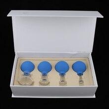 Набор стеклянных силиконовых массажных вакуумных чашек с чашками для тела и ног на плече