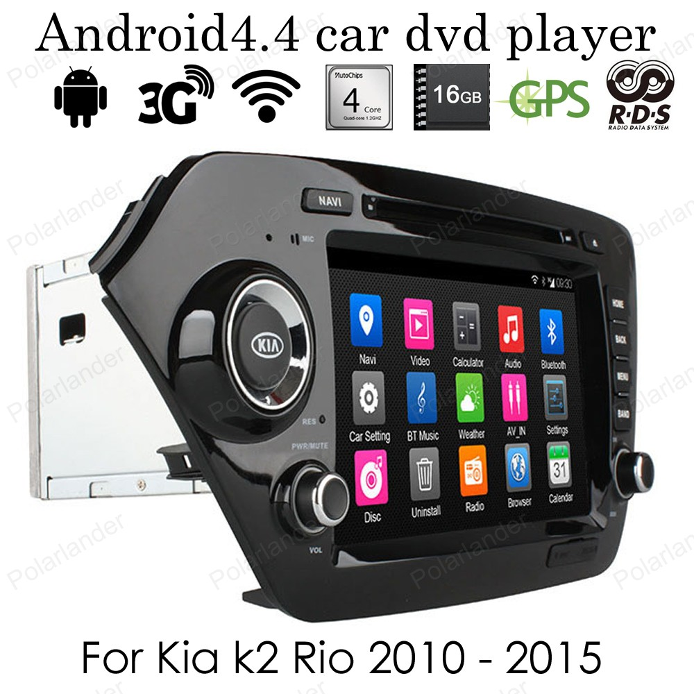 1024*600 4 ядра Android 4.4 dvd плеер автомобиля для KIA K2 RIO 2010 2015 Wi Fi 3G BT RDS GPS 2din 8 дюймов Радио 16 г Встроенная память