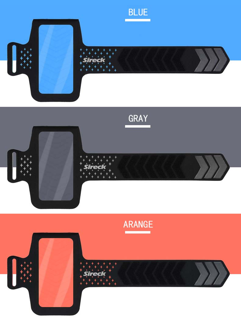 """Sireck Running Bags Touchscreen 5.0"""" 5.8"""" Armband Phone Waterproof Arms Bag Accessories Gym Sport Fitness Jogging Run Bag 45 cm 25"""