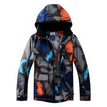 цена на Snowboarding Jacket Snowboard Men's Ski Suit Jacket Skiing Coat Keep Warm Windproof Waterproof Winter Anti-UV Thicken Ski Jacket