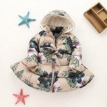 цена Autumn Kids Girls printed padding Jackets Clothes Children Outwear For Baby Girls Clothing Coats warm jacket 33 онлайн в 2017 году