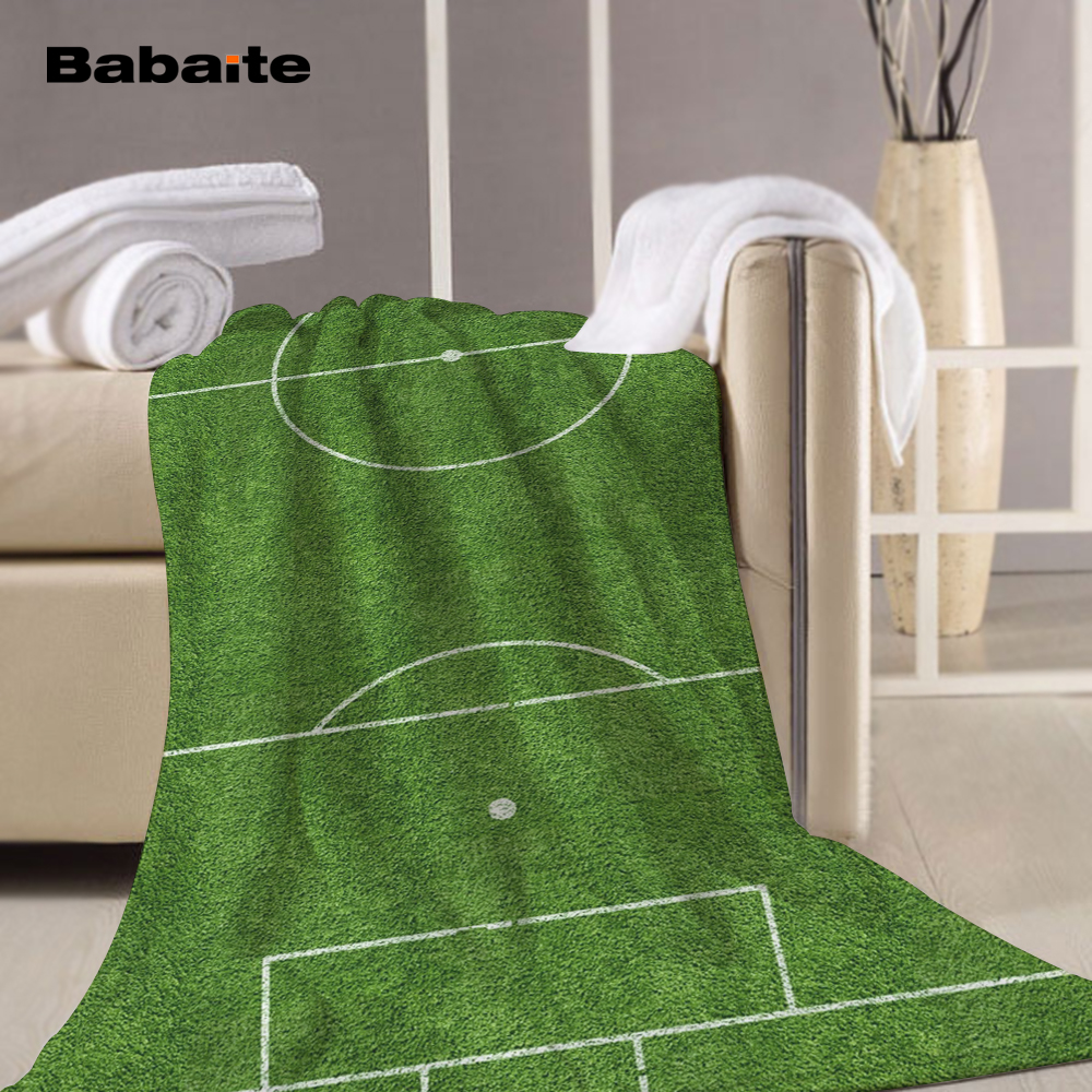 Babaite Football Pitch Soccer Football Fans Gift Beach Bath Sports Travel Towel Swimming Wrap Blanket Quick Dry Pool Sheet Mat