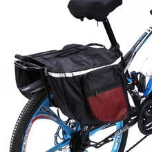 W 25L Large Capacity Red Cycling Bicycle Bike Rack Back Rear Seat Tail Carrier Trunk Double Pannier Bag