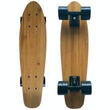 22X6 นิ้วMini Cruiser Mapleสเก็ตบอร์ดไม้ไผ่Retro Longboardมาตรฐานไม้ไผ่Penyสเก็ตBoard