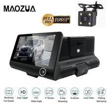 Maozua 1080P Full HD Car DVR Camera 4.0 inch Dual Lens Auto Dash Cam 170 Degree Rearview G-sensor Recorder