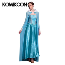 Snow Princess Anna Elsa Queen Cosplay Dress For Women Girl Adult Blue Fancy Dresses Cloak Full Set Halloween Dance Party Costume muababy girl anna dress up clothes with cape children long sleeve floral applique snow queen cosplay costume for halloween party