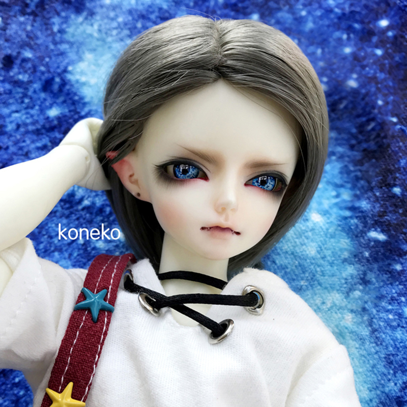 Allaosify Bjd wig/ SD as boy girl doll cool golden short curly 1/3 1/4 1/6 high temperature doll wigs bjd hair free shipping luo black fur wig for 1 3 1 4 1 6 bjd sd doll bjd wigs short wig for diy dollfie doll accessories