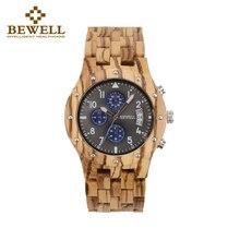 BEWELL Luxury Men Wood Watch Man Gift Watches Men
