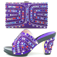 TH16 51 Fashion Party Setes Matching Shoes And Bag Sets Black African Pumps Shoes And Handbag