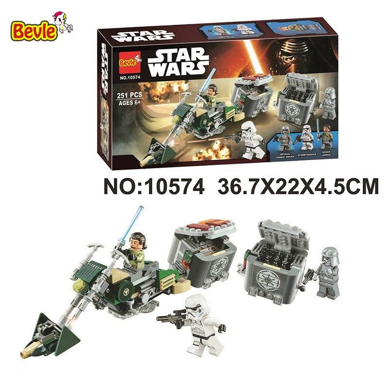 10574 Bela Star Series guerras Kanan es Speeder modelo de bicicleta de bloques de construcción ladrillos juguetes regalo Compatible con Legoings 75141