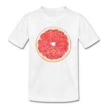 Grapefruit slice vegan kids t-shirt