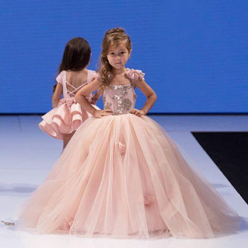 Pretty Flower Girl Dresses Kids Prom Dresses Pink Pageant Dresses ...