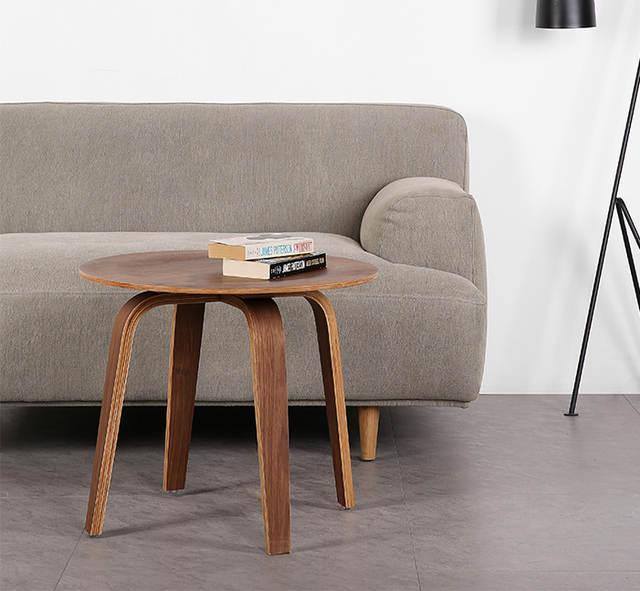 Us 219 0 Modern Classic Design Plywood Solid Ash Wood Veneer Loft Sofa Corner Side Table Fashion Popular Living Room Modern Furniture 1pc In Coffee