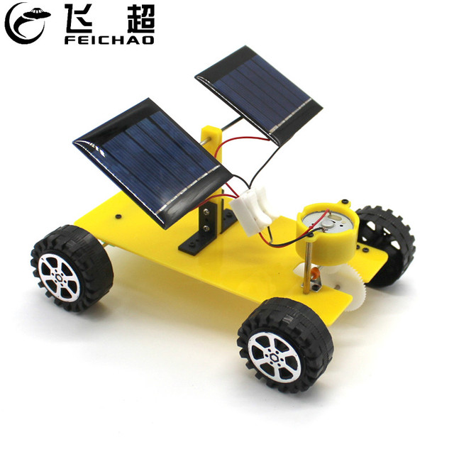 Feichao Dual Solar Panel Diy Mini Solar Powered Toy Car Assembly