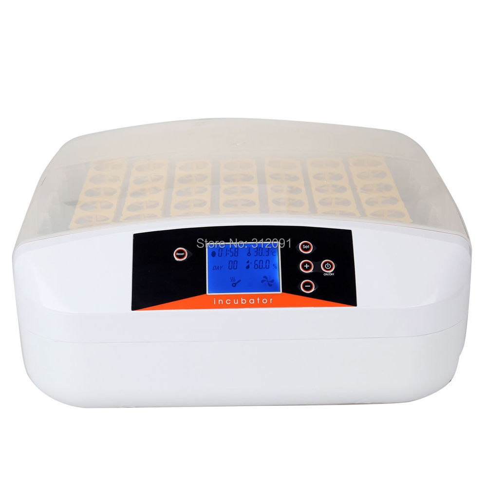 (EU Shipping) 56 Digital Poultry Chicken Duck Bird Egg Incubator Hatcher Supply Fully Automatic Egg Turning Temperature Control new design digital temperature incubator pet supply duck hatcher household chicken egg incubator