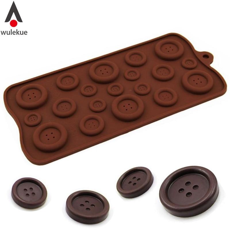 Wulekue szilikon gomb formájú csokoládé zselés puding cukorkát jégkocka tálca öntőforma torta díszítőeszközök Konyha