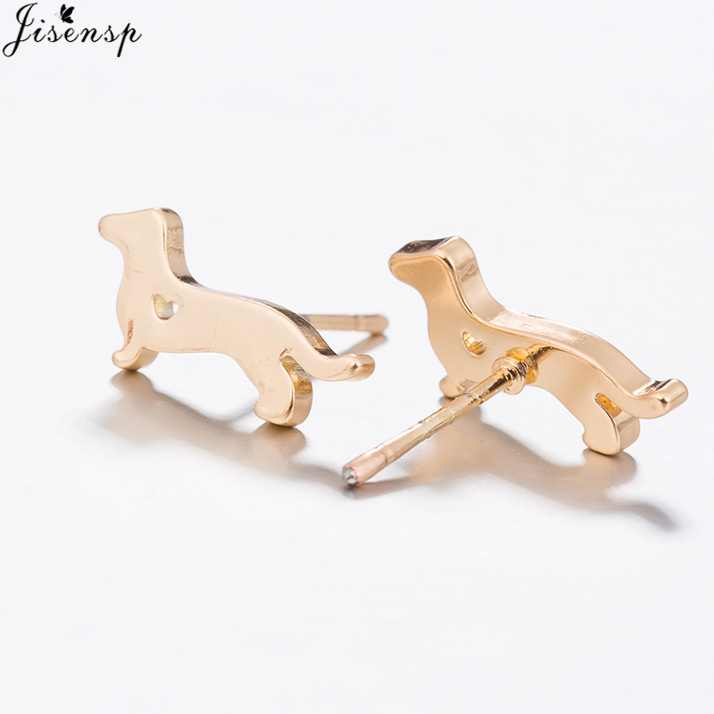 Jisensp Variety of Stylish Mini Cat Deer Animal Stud Earrings for Women Geometric Earrings Minimalist Jewelry Accessories brinco