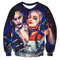2017 New Brand Design Men's 3d Character Print Sweatshirts and Hoodies Famous Suicide Squad The Joker Print Sudadera Hombre T921