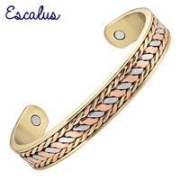2014 Unisex 18K Gold And Rose Gold Plating Silver Magnetic Bracelet Health Healing Bio Bangle Supreme