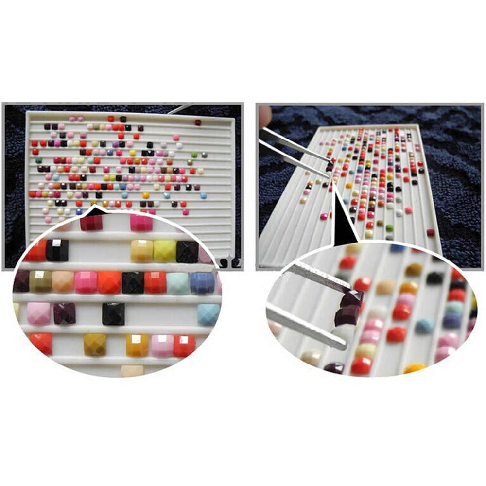 5D diamond mosaic painting village complete spearhead point crystal cross picture wall to stay K140