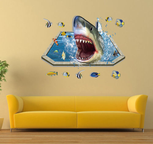 2016 Finding Nemo 3D View Art Wall Stickers Baby Nursery Home Decor ...