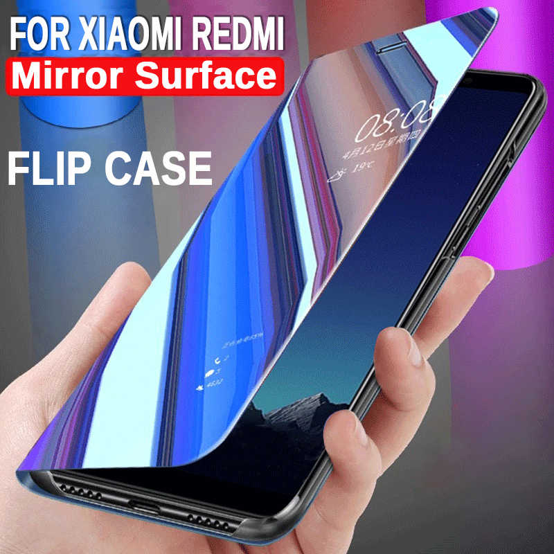 Mirror Flip Case For Xiaomi Redmi Note 7 Leather Back Cover On Redmi Red mi 6a Note 5 6 7 Pro 4a S2 Y1 Lite Note7 Redmigo Xiomi