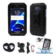 Soporte de teléfono impermeable para motocicleta, funda armadura para teléfono y Moto Samsung Galaxy S9 S8 Plus S7 S6 Edge S5