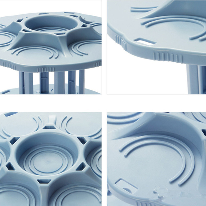 FHEAL 2 Tiers 360 Degree Rotating Beverage Can Storage Rack Kitchen Spice Jar Condiment Bottles Tray Drink Organizer Holder (2)