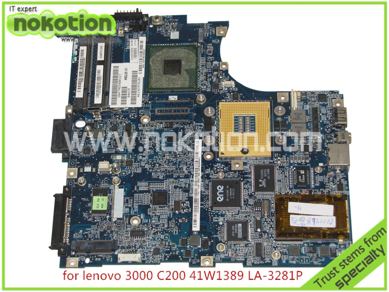 NOKOTION 41W1389 HDL20 LA-3281P For lenovo 3000 C200 Laptop motherboard intel 945GM DDR2 Mainboard full tested nokotion laptop motherboard for lenovo g570 la 675ap mainboard intel hp65 ddr3 socket pga989