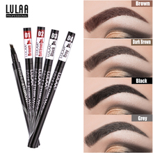 LULAA 4 Color Eyebrow Pen Waterproof Four Fork Tip Tattoo Pencil Long Lasting Tinted Fine Sketch Eye Brow Pencils Liquid Eyebrow eyebrow pen waterproof fork tip microblading eyebrow pen long lasting professional fine sketch liquid eye brow pencil