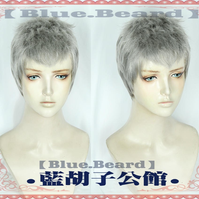 Devil May Cry 5 Nero Cosplay hairwear Cosplay Wig Halloween Cosplay Nero Short Silver Gray Hair Wig Hair Game Devil Hunter Costu