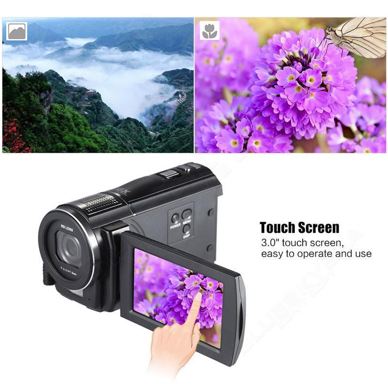 "ORDRO HDV-F5 1080P Digital Video Camera Max 24MP 16X Anti-shake 3.0"" Touch Screen LCD Camcorder DV With Remote Controller 1"