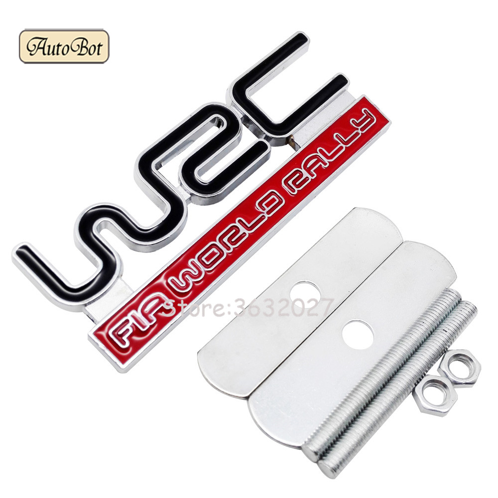 Metal WRC Car Front Grille Emblem Sticker For Citroen C4 Xsara Peugeot 206 Toyota Corolla Mitsubishi Lancer Subaru Impreza Decal auto front grille grill badge emblem fit for wrc red rally impreza foreater sti wrx