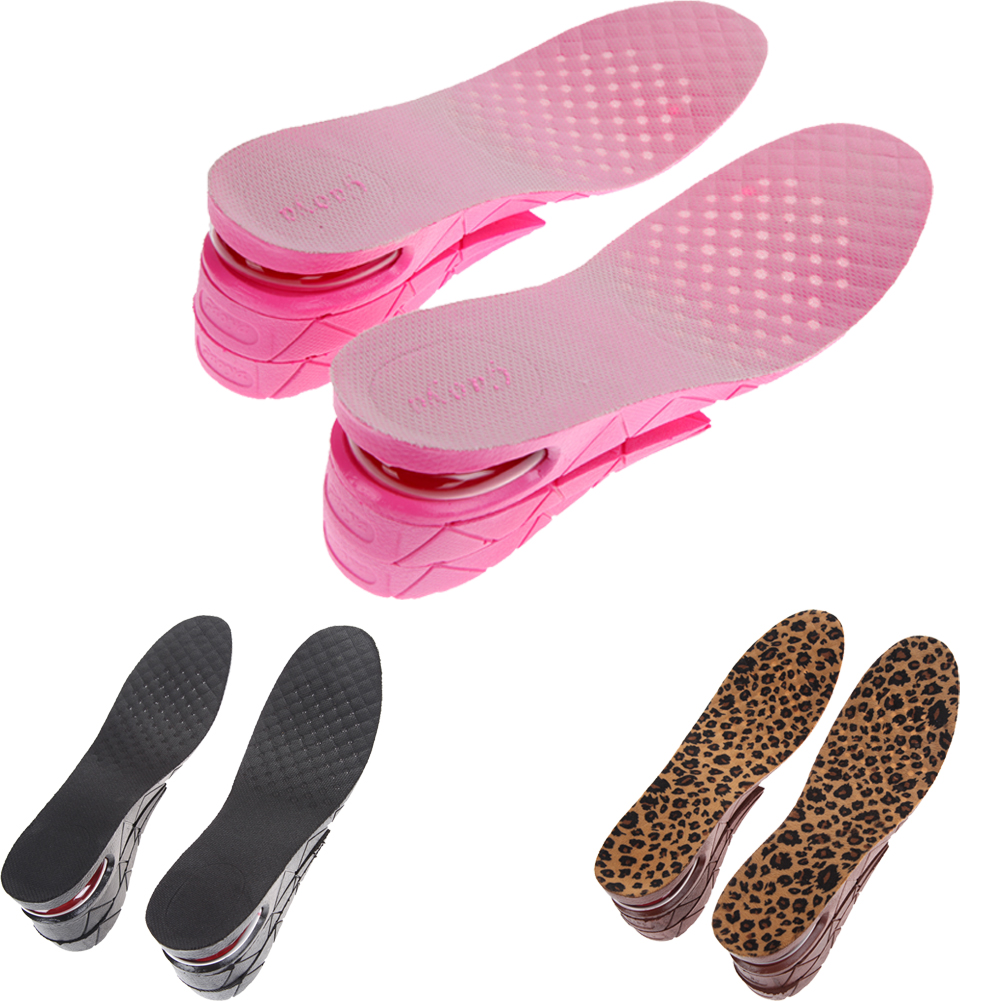 3-Layer Shoe Insoles Cushion Height Increase Heels Lift Kit Insert for Men Women