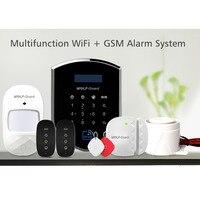 Wolf Guard DIY Wireless GSM WIFI Home Alarm Security Burglar System Sheild Host Door Sensor PIR Motion Detector Access