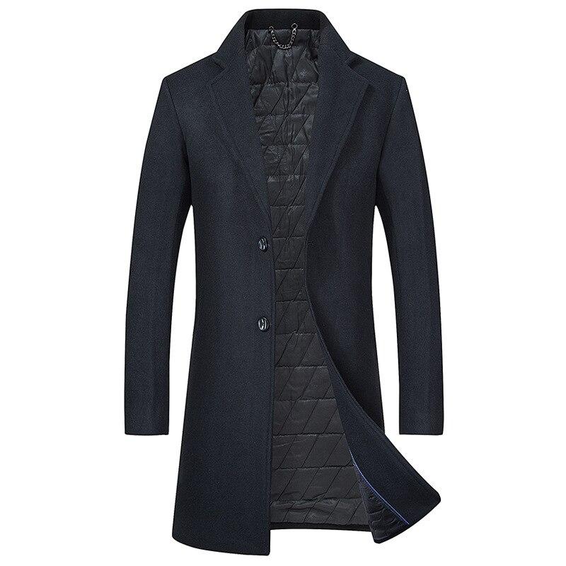 2018 Business Stilvolle Casaco Masculino Herren Herbst/winter Dicker Silm Fit Woll Mantel Hochwertige Wolle Graben Mantel Für Männer