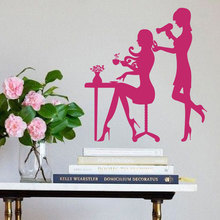 Hair Salon Art Murals Hairdresser Barbers Beauty Vinyl Sticker Home Decor Carving Removable Decal M-88