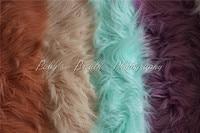 170cmx90cm(67''x35'') Faux Fur Blanket Basket Stuffer Newborn Photography Blanket Long Pile Artificial Fur Newborn Photo Prop