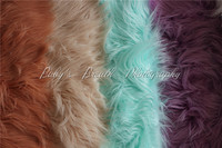 170cmx90cm(67''x35'') Faux Fur Blanket Basket Stuffer Newborn Photography Blanket Long Pile Artificial Fur Newborn Photo Prop