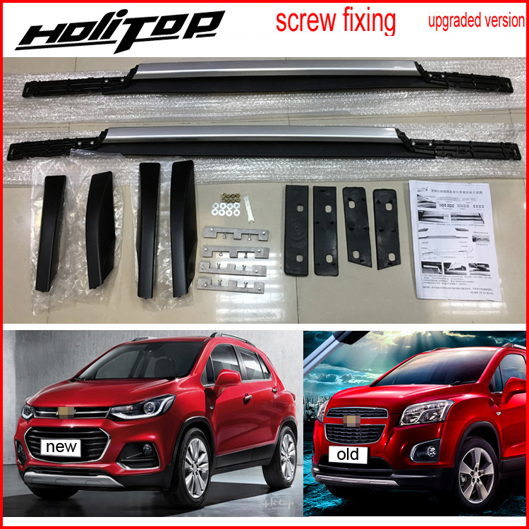 Hot for Chevrolet TRAX 2013 2017 roof rail roof rack bar install by screws instead of