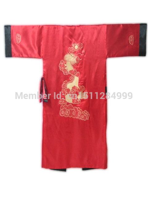 Dormir de Seda Bordado Kimono Robe Banho