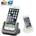 Nos estoques/Sincronização de Dados USB Charger Dock Station Cradle Doca de Carregamento estação para apple iphone se 5 5s 5c 6 6 s mais 7 Pro