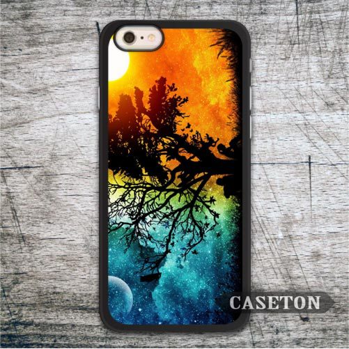 Tree Lonely Us Case For iPod 5 and For iPhone 7 6 6s Plus 5 5s SE 5c 4 4s High Quality Painting Style Phone Cover