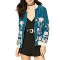 Новый Европейский Цветок Вышивка Куртка Досуг Стиль Молния Мода Бомбардировщик Куртка Женщин Пальто Xdb62055