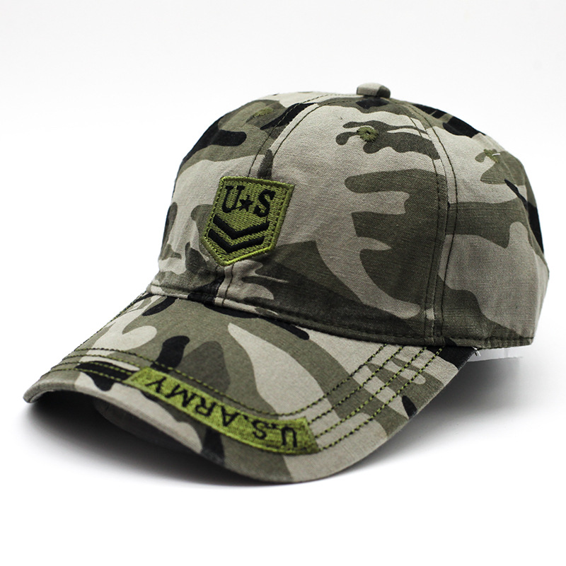 High Quality Army Hat Watercolor Camouflage Baseball Cap Men And Women Summer Sun Hiking Outdoor Hats