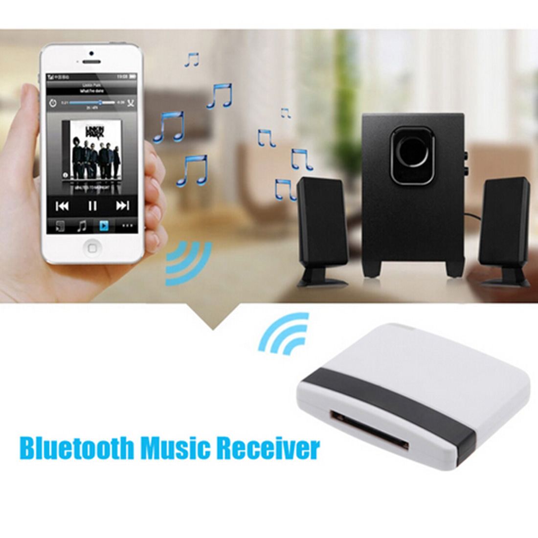 NOYOKERE Hot Sale Bluetooth A2DP 30Pin Music Receiver Audio Adapter Dock for iPad iPod iPhone bluetooth a2dp music audio 30 pin receiver adapter for ipod iphone ipad speaker dock audio music receiver black eletronic hot