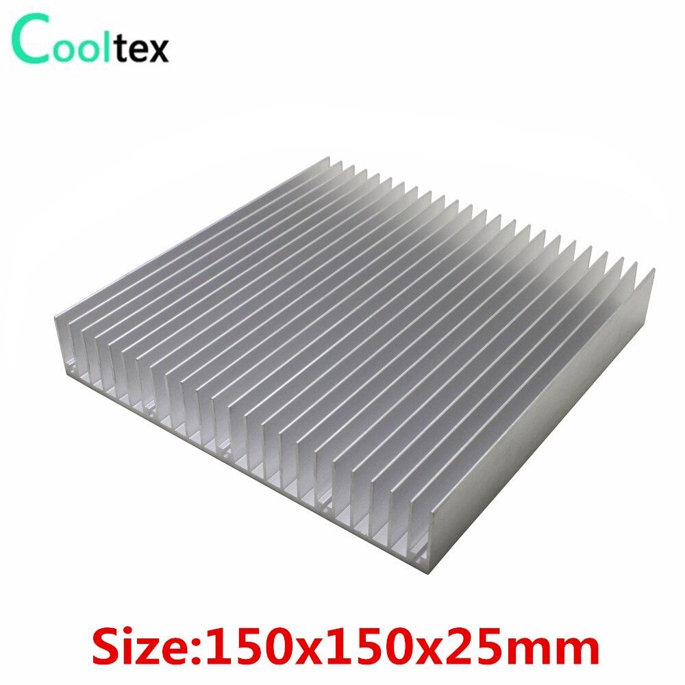 Алюминиевый радиатор 150x150x25 мм DIY, радиатор охлаждения, кулер для светодиодный, электронный, интегральная схема, теплоотвод