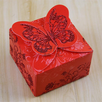 Chinese Style Elegance 3D Butterfly Pattern HOT STAMPING Purple Cake Love Sweet Candy Box Wedding Decorations Party Favor Gift