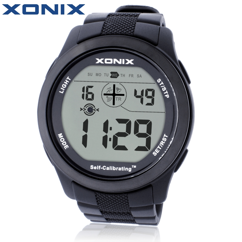 где купить XONIX Self Calibrating Internet Timing Men Sports Watches Waterproof 100m Digital Watch Swimming Diving Wristwatch Montre Homme дешево
